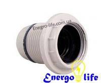 Патрон для лампы Е14 белый с резьбой, GAV 417
