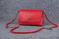 Женская кожаная сумка Итальянка XL | Краст Коралл, фото 1