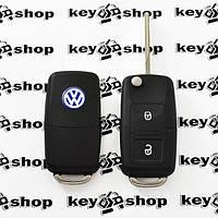 Выкидной автоключ Фольксваген (Volkswagen) 2 кнопки микросхемой 1JO 959 753 A - 434 Mhz, с ID48 чипом