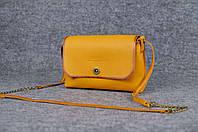 Женская кожаная сумка Итальянка XL | Италия Янтарь, фото 1