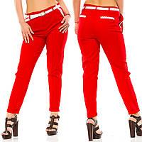 Жіночі штани великих розмірів з поясом та кружевом.Р-ри 50-56
