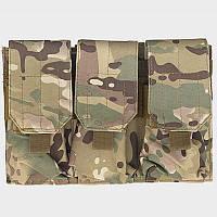 Подсумок для магазинов M4/AK74 тройной - мультикам, фото 1