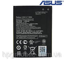 Батарея (АКБ, аккумулятор) C11P1506 для Asus Zenfone Go ZC500T/T500/Live G500T, 2000 mAh, оригинал