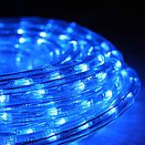 Светодиодный дюралайт синий, фото 6