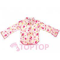 Рубашка жатка малиновая (4-8 лет)