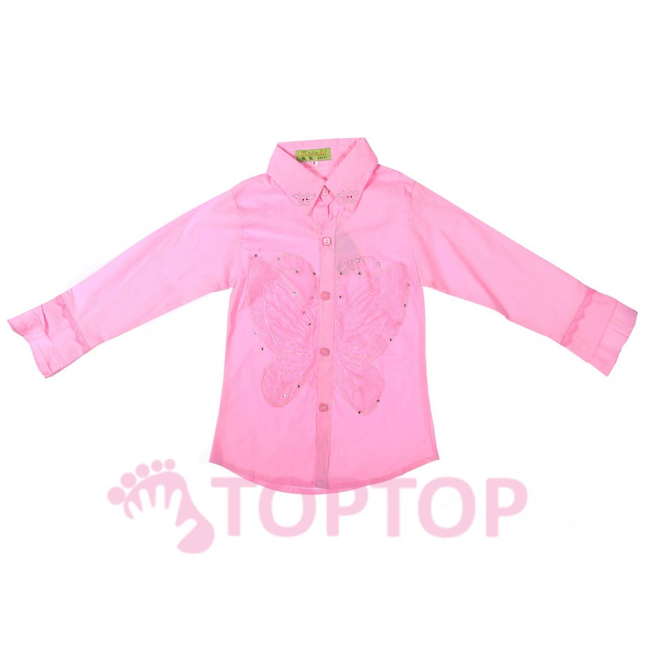 Рубашка для девочек розовая (6-9 лет)