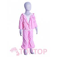 Костюм тройка для девочек розовый (1-3 года)