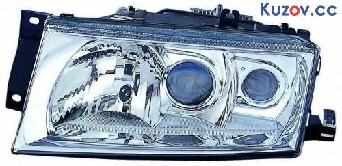 Фара Skoda Octavia 00-09 правая (Depo) электрич., D2S+H1+H3, без корректора