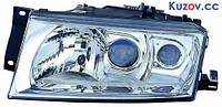 Фара передняя Skoda Octavia '00-09 правая (DEPO) электрич., D2S+H1+H3, без корректора