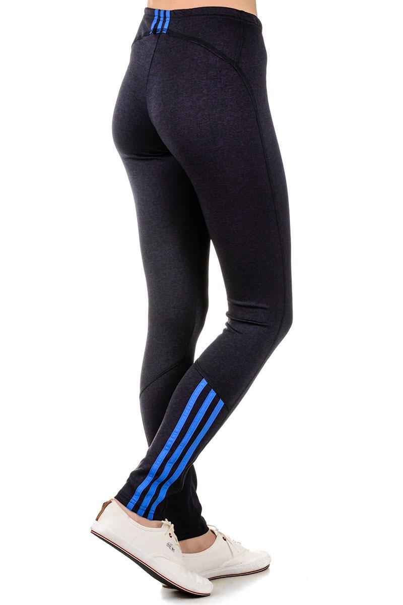 Спортивные черные лосины женские обтягивающие леггинсы трикотажные