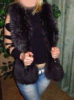 Кожаная жилетка  с мехом., фото 1