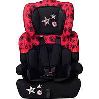 Детское автокресло  KIDDY(от 9 до 36 кг) - Bertoni - Болгария - ткань сидения капиллярная (дышащая) black&red stars