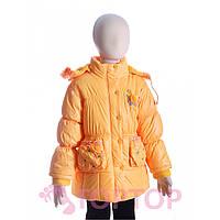 Куртка с розой желтая (7-10 лет)