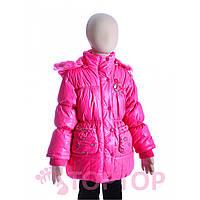 Куртка с розой малиновая (7-10 лет)