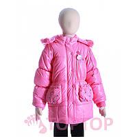 Куртка с розой розовая (7-10 лет)