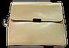 Строгая женская сумочка из натуральной кожи бежевого цвета GSM-009841