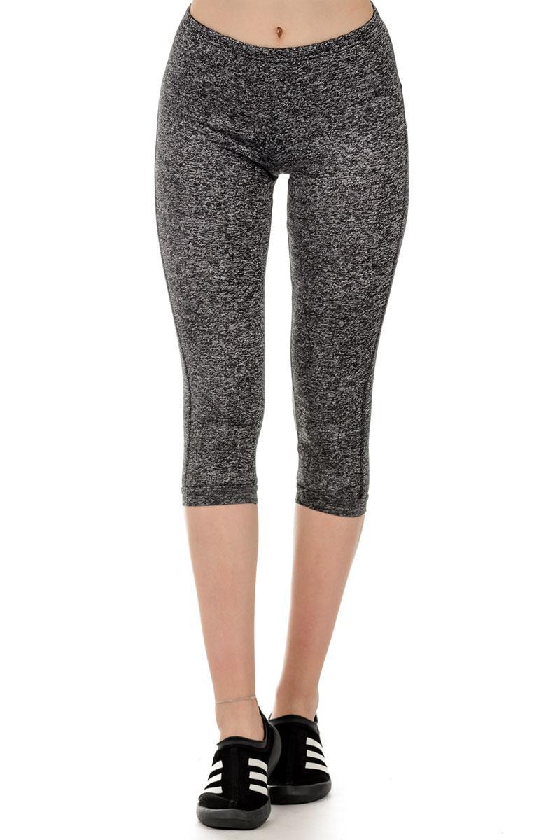Літні спортивні сірі лосіни жіночі короткі обтягуючі брюки трикотажні