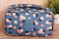 Органайзер для белья и косметики дорожный голубой с цветами Weekeight travel водоотталкивающий