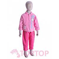 Комбинезон с курткой розовый (1-2 года), фото 1