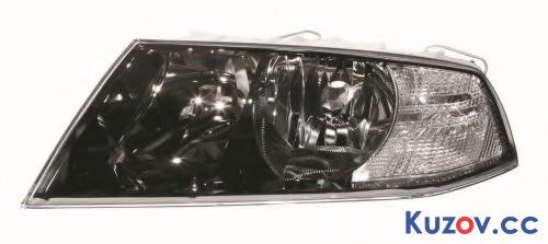 Фара Skoda Octavia A5 05-09 левая (Depo) черн. нелинзованная электрич. 1Z1941017C