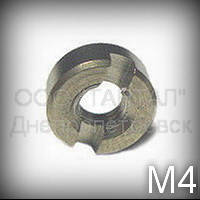 Гайка М4 ГОСТ 10657-80 (DIN 546) кадмированная круглая с шлицем
