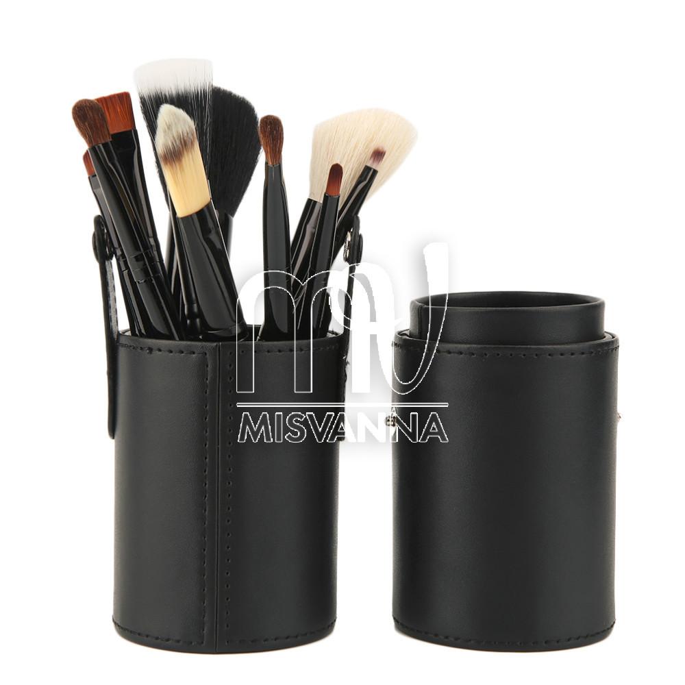 Набор кистей для макияжа Mac, 12 шт. в футляре черный