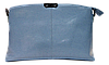 Прямоугольная женская сумочка из натуральной кожи голубого цвета VQX-214277