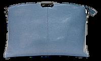 Прямоугольная женская сумочка из натуральной кожи голубого цвета VQX-214277, фото 1