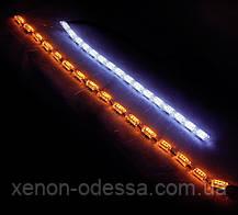 New ДХО с бегущими поворотами Crystal LED DRL  + Flowing Turning Light ЯРЧЕ на 80%, фото 3