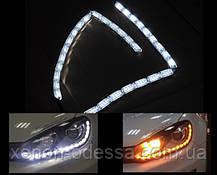 New ДХО с бегущими поворотами Crystal LED DRL  + Flowing Turning Light ЯРЧЕ на 80%, фото 2