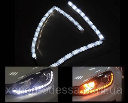 ДХО с бегущими поворотами Crystal LED DRL  + Flowing Turning Light, фото 2