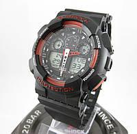 Часы Casio G-Shock GA-100 black/red. Реплика ТОП качества!