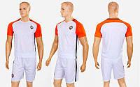 Форма футбольная детская ШАХТЕР гостевая 2017 CO-3900-SH1 (полиэстер, р-р XS-XL, белый-оранжевый)