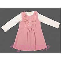 Сарафан с кофтой розовый (1-3 года)