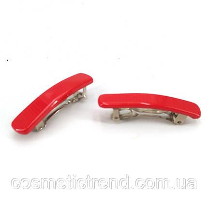 Заколка-мини красная автомат 2 шт. комплект (Франция), фото 2