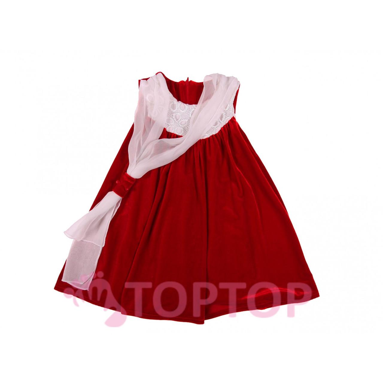 Сарафан с болеро красный (2-6 лет)