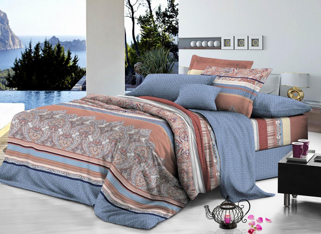 Двуспальный комплект постельного белья евро 200*220 хлопок  (7274) TM KRISPOL Украина