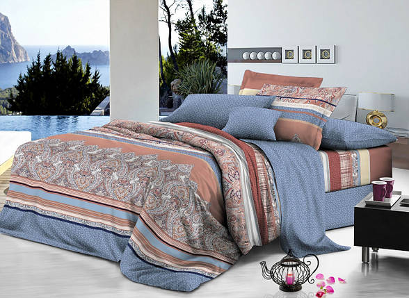 Двуспальный комплект постельного белья евро 200*220 хлопок  (7274) TM KRISPOL Украина, фото 2