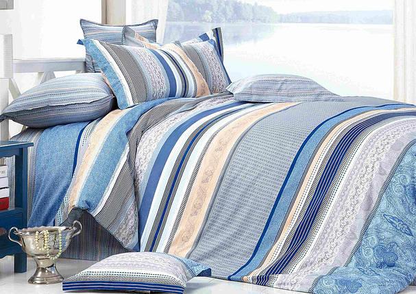 Двуспальный комплект постельного белья евро 200*220 сатин (7306) TM KRISPOL Украина, фото 2