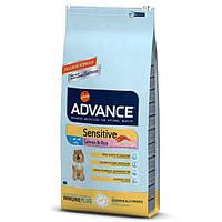 Advance Dog Sensitive 12кг гипоаллергенный корм для собак с лососем и рисом