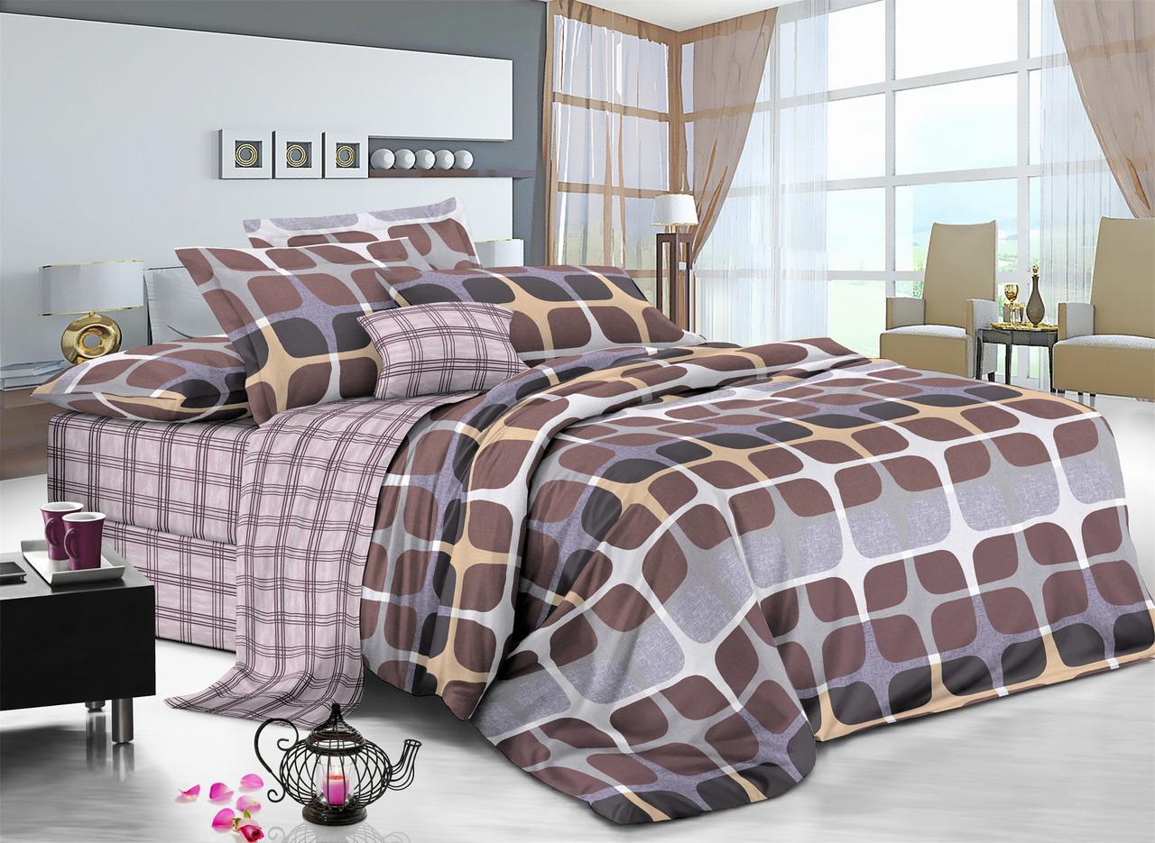 Двуспальный комплект постельного белья 180*220 сатин (7510) TM KRISPOL Украина