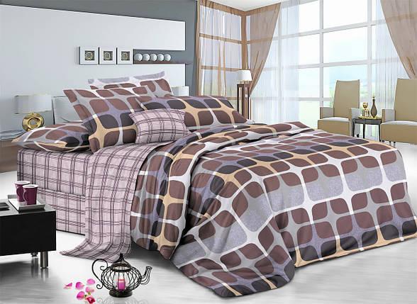 Двуспальный комплект постельного белья 180*220 сатин (7510) TM KRISPOL Украина, фото 2