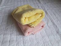 """Полотенце махровое Индия """"Браслет"""" 30х50  желтое и розовое"""