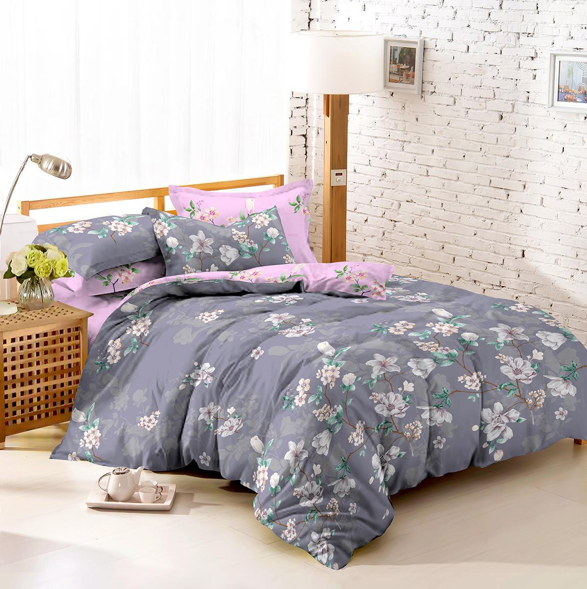 Двуспальный комплект постельного белья 180*220 сатин (7475) TM KRISPOL Украина