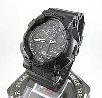Часы Casio G-Shock GA-100 All Black. Реплика ТОП качества!, фото 1