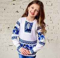 Вязаные вышиванки для девочек
