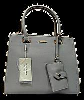 Прелестная женская сумочка DAVID DJONES серого цвета YRP-086435, фото 1