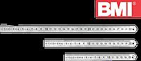 Линейка из нержавеющей стали 200 мм 2 класс точности BMI 962020040, фото 1