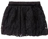 Юбка черная кружевная для девочки
