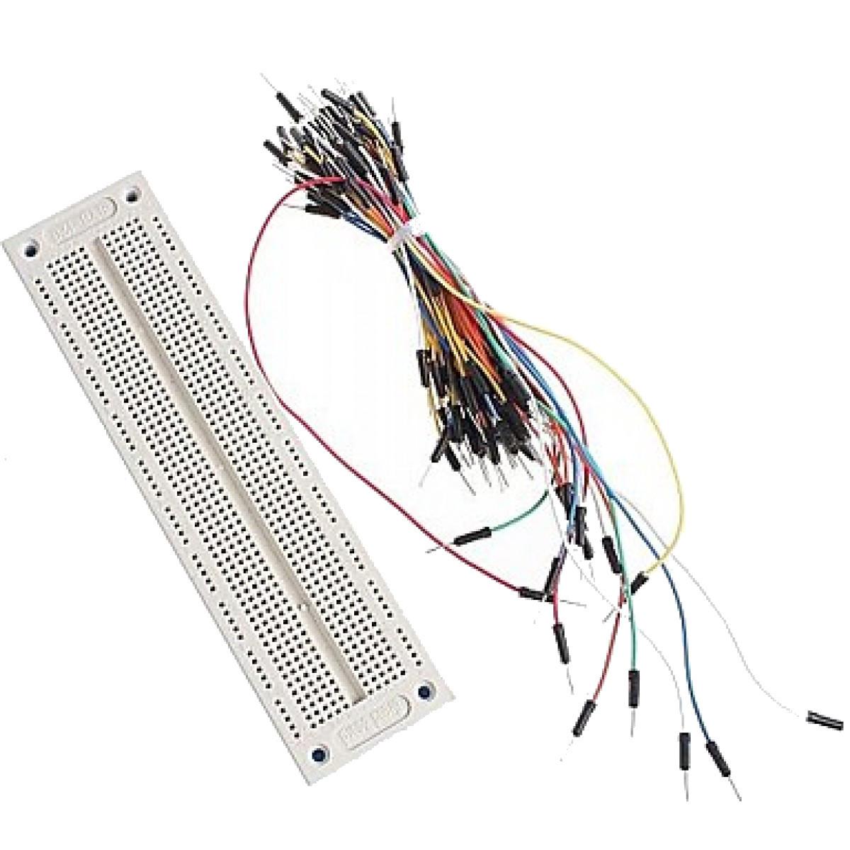 PCB макетная монтажная плата SYB-120 + джемперы, фото 1